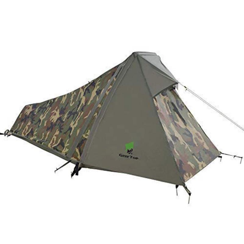 日本代購GEERTOP帳篷 戶外露營登山野營徒步 單人用超輕便攜防水四季帳篷