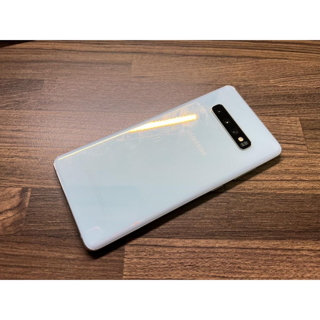 台版三星 Samsung Galaxy S10+Plus 絢光白  8G/128G (二手機)