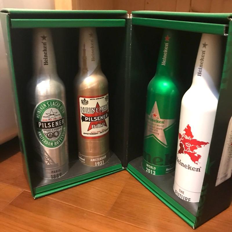 海尼根140周年 紀念品 鋁瓶全新