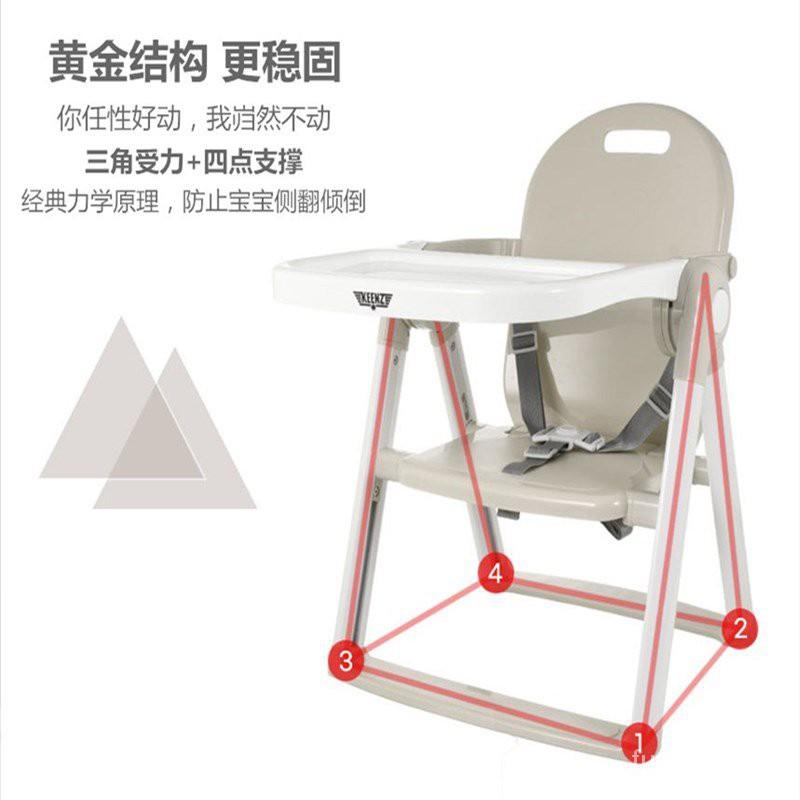 寶寶餐椅【免運】韓國KEENZ寶寶餐椅攜便式 嬰兒吃飯外出家用兒童餐桌椅矮款可折疊