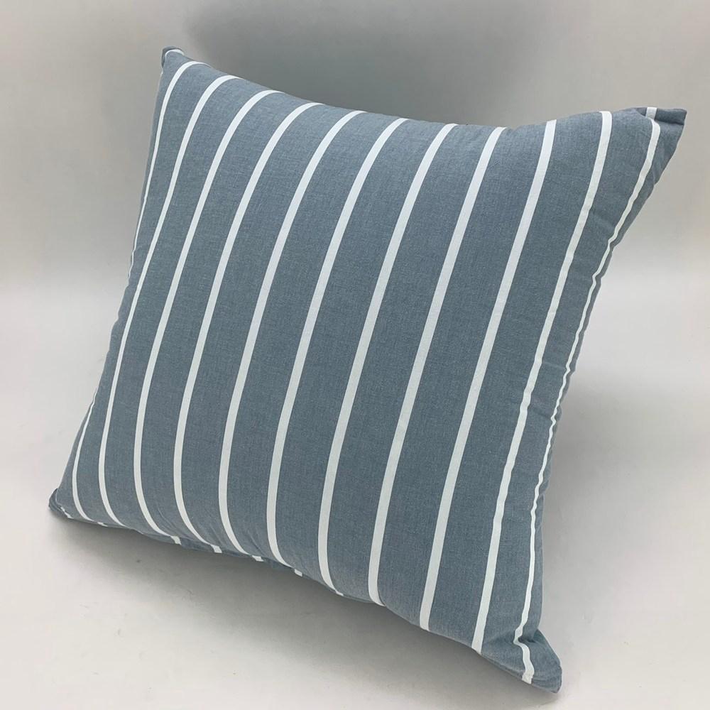 Hoi 水洗純棉大抱枕-條紋藍65x65cm