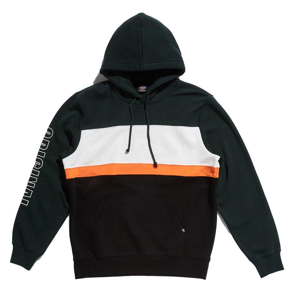 【DICKIES】韓國限定 DSP3UTHT305 4 COLOR COMBO HOODIE 帽T (森林綠) 化學原宿