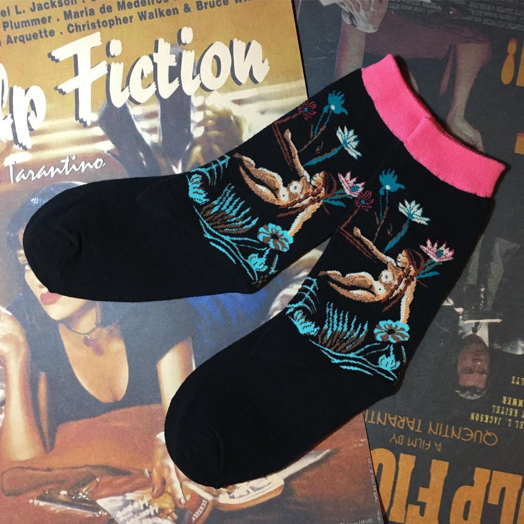 「任選買5送1任你搭配」[LAZYDAY]《怪品味襪控蒐集狂》幸運女神森林守護者花朵男女皆可中性短襪