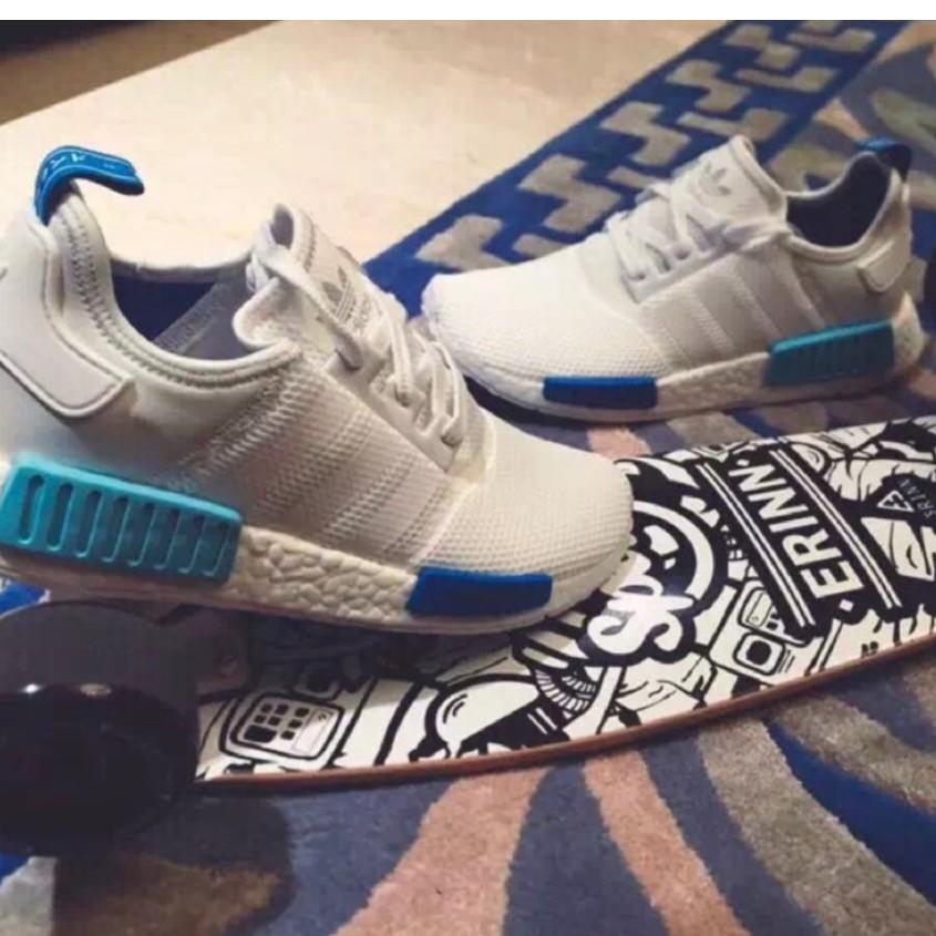 💞正版保證💞 Adidas originals NMD boost 愛迪達 經典 藍白  跑步鞋慢跑 男女情侶款