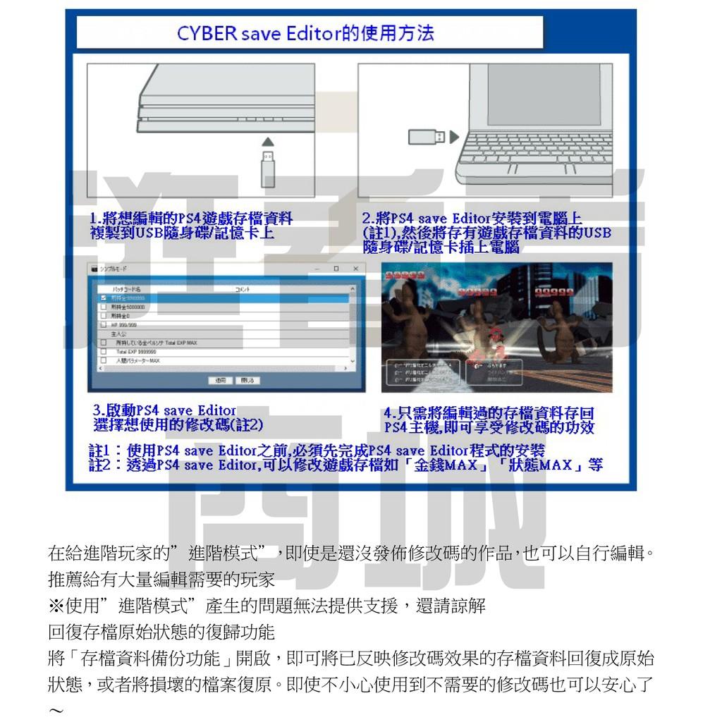 現貨】支援魔物獵人世界PS4 CYBER Save Editor 遊戲修改器金手指存檔編輯