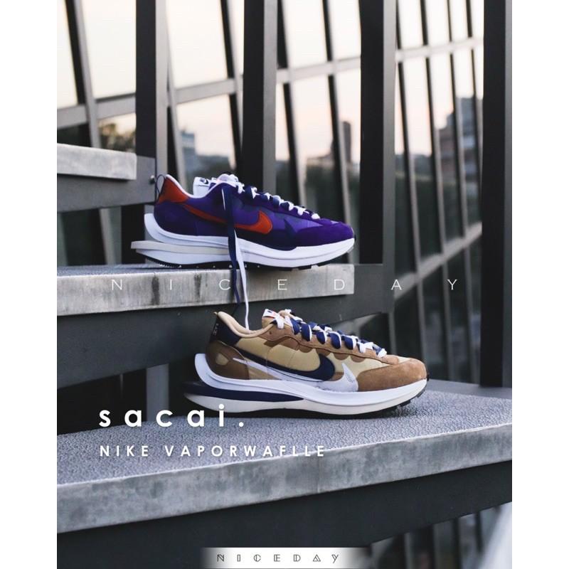 NiceDay 現貨 Nike VaporWaffle x sacai 卡其 奶茶色 紫色 聯名款 DD1875 200