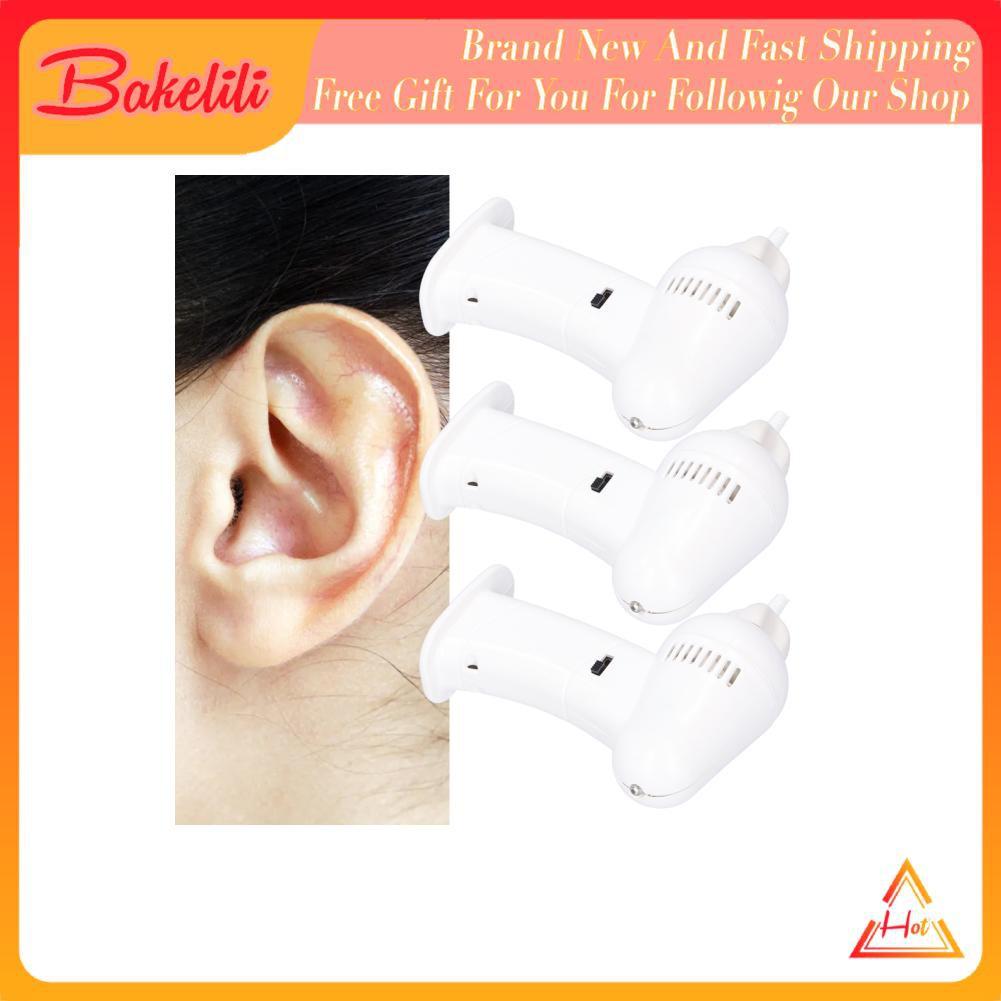 Bakelili 3 盒電動耳清潔器便攜式按摩吸耳垢去除裝置套裝