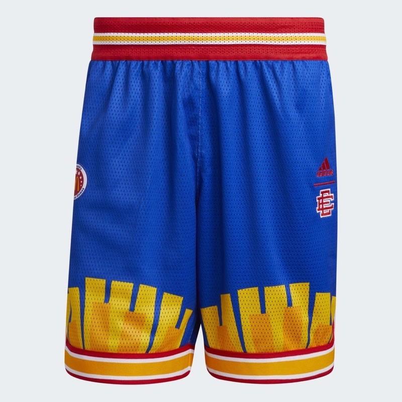 DY• ADIDAS ERIC EMANUEL McDonald 藍黃 球褲 麥當勞 明星賽 薯條 男款 H16550