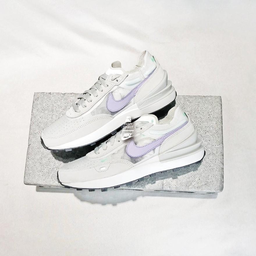 【逢甲 FUZZY】W Nike Waffle One 灰白 紫勾 薰衣草紫 小Sacai 女鞋 DC2533-101