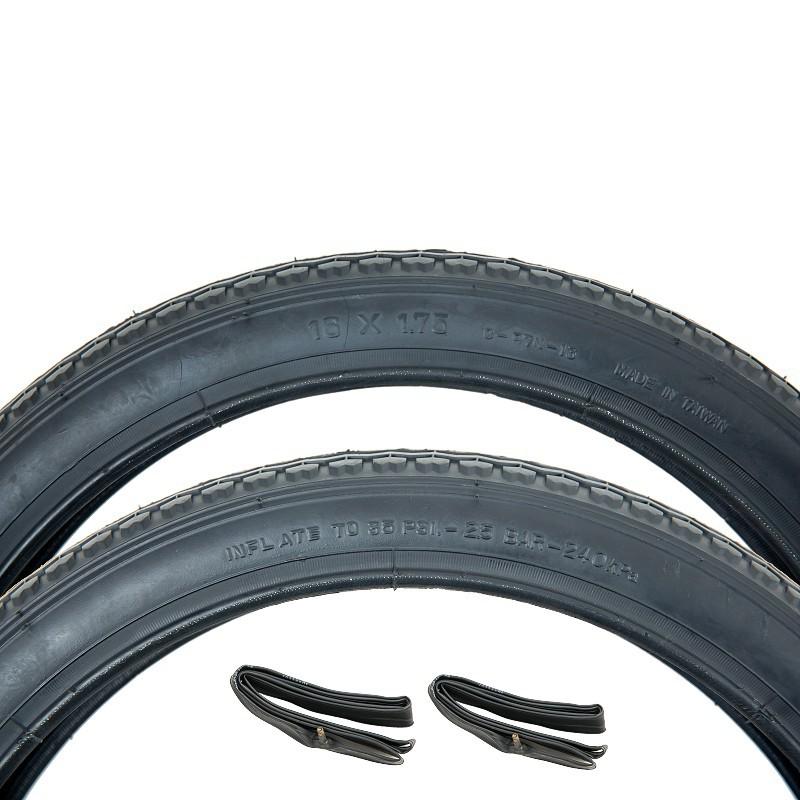 (正新 16 x 1.75 一車份 2細紋外胎+2美嘴內胎)16*1.75 單車輪胎 16吋童車輪胎 16吋輪胎