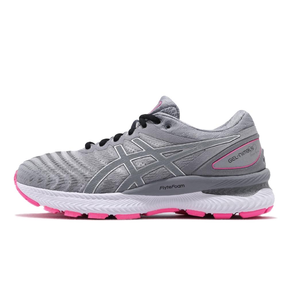 【ACS】Asics 慢跑鞋 Gel-Nimbus 22 Lite Show 灰粉紅 女鞋 反光 1012A585020