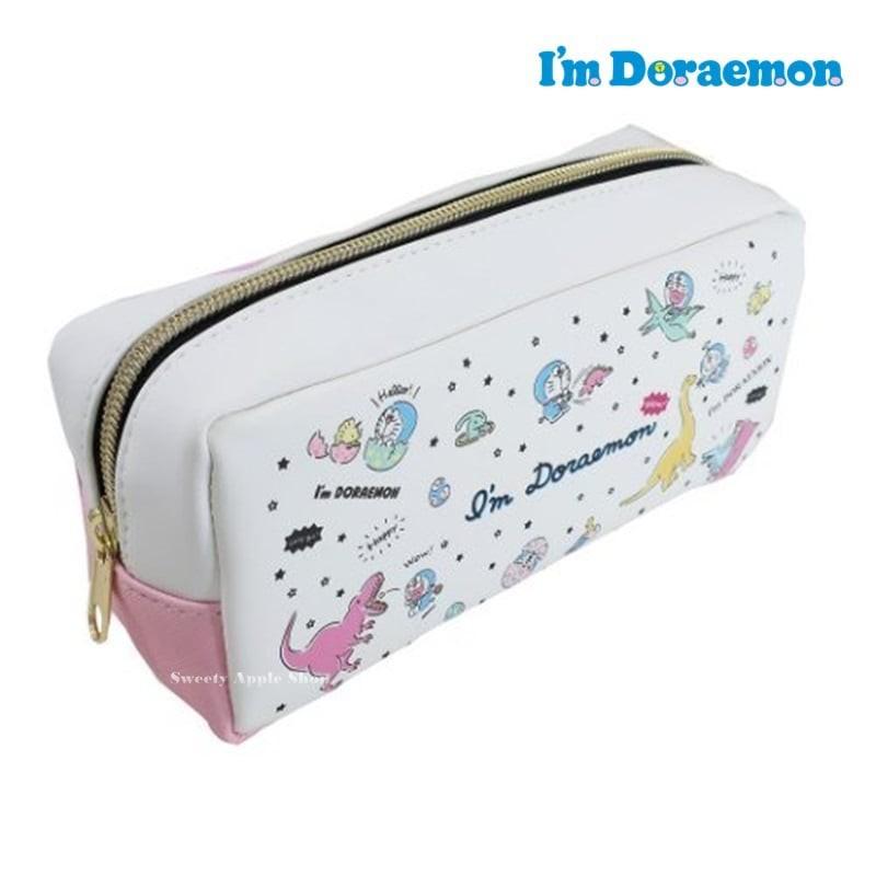 哆啦a夢 【 SAS日本限定 】哆啦a夢 I'm Doraemon 恐龍版 收納袋 / 筆袋 / 化妝包 / 鉛筆盒