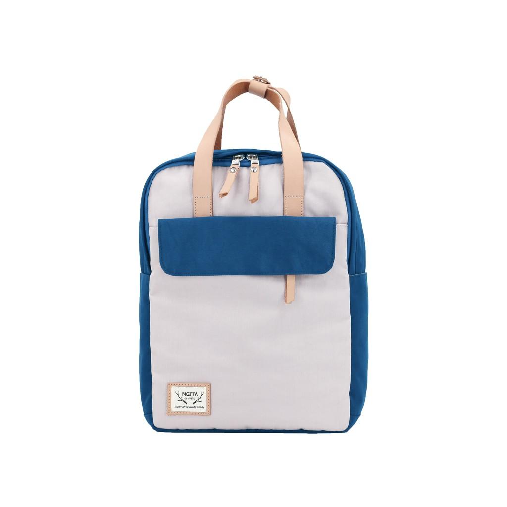 野餐手提後背包《深藍x淡藍紫》S號