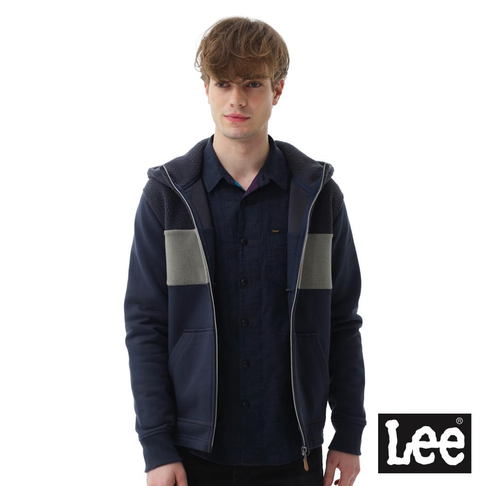 Lee 簡約連帽開襟外套 男 深藍 Mainline 1703376RR