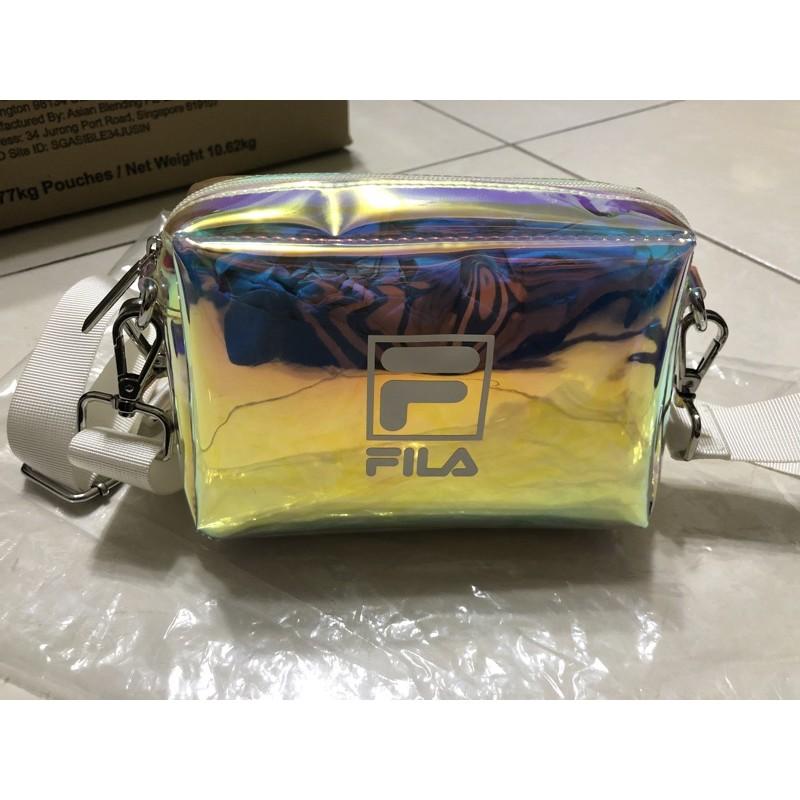 7-11 FILA 包包 雷射 炫彩 透明 手提包 肩背包 斜背包 側背包 背包 小包 附兩種背帶