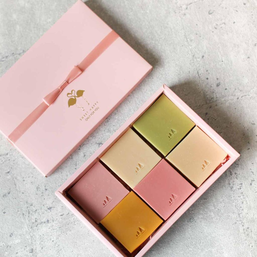 粉紅手工皂禮盒限量1組6入