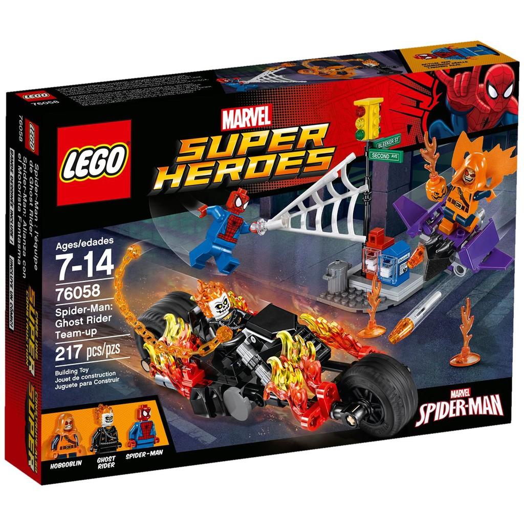 """  高雄 宅媽 樂高 積木   LEGO""""76058""""SpiderMan: Ghost Rider Teamup"""
