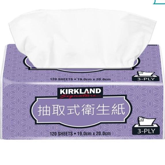 【COSTCO好市多】Kirkland 科克蘭 三層抽取衛生紙 120抽