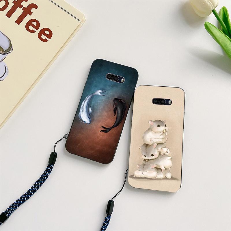 卡通 LG Q8 2017 2018 Q9 G8 G8S G8X G9 ThinQ 5G 手機殼全保護套帶