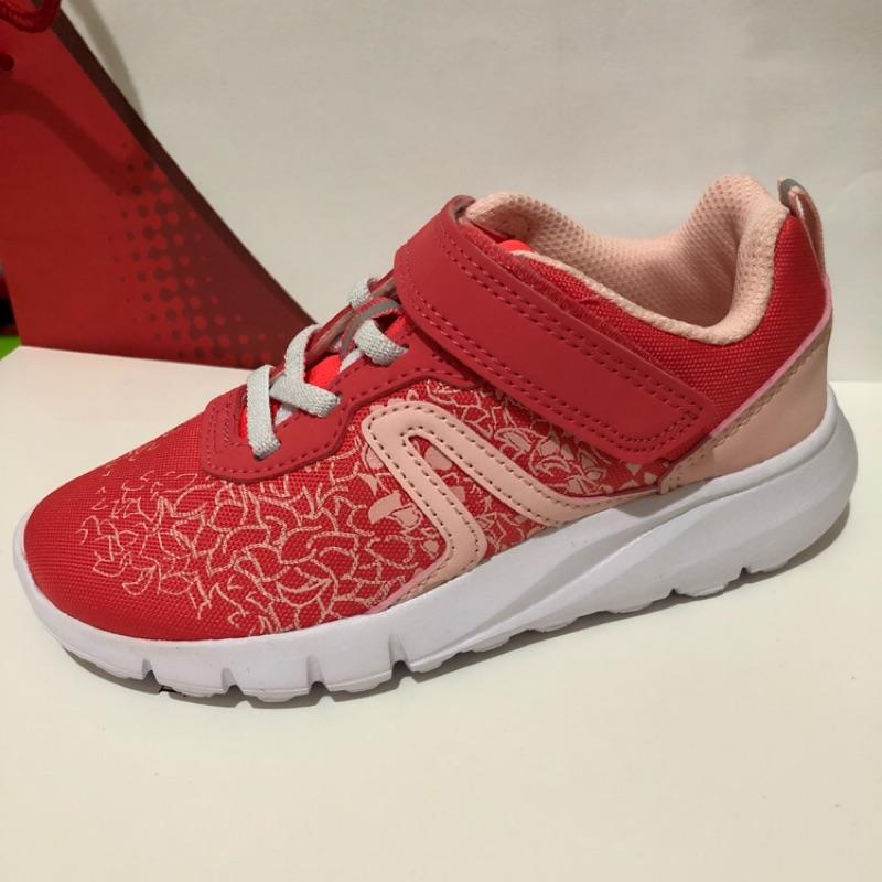 全新-女童-迪卡儂防潑水慢跑鞋