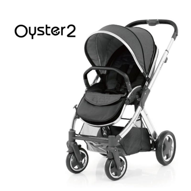 搬家下殺:【英國 Oyster2】雙向嬰幼兒手推車(沉穩灰) 含贈品