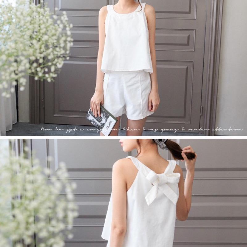 網拍白色套裝