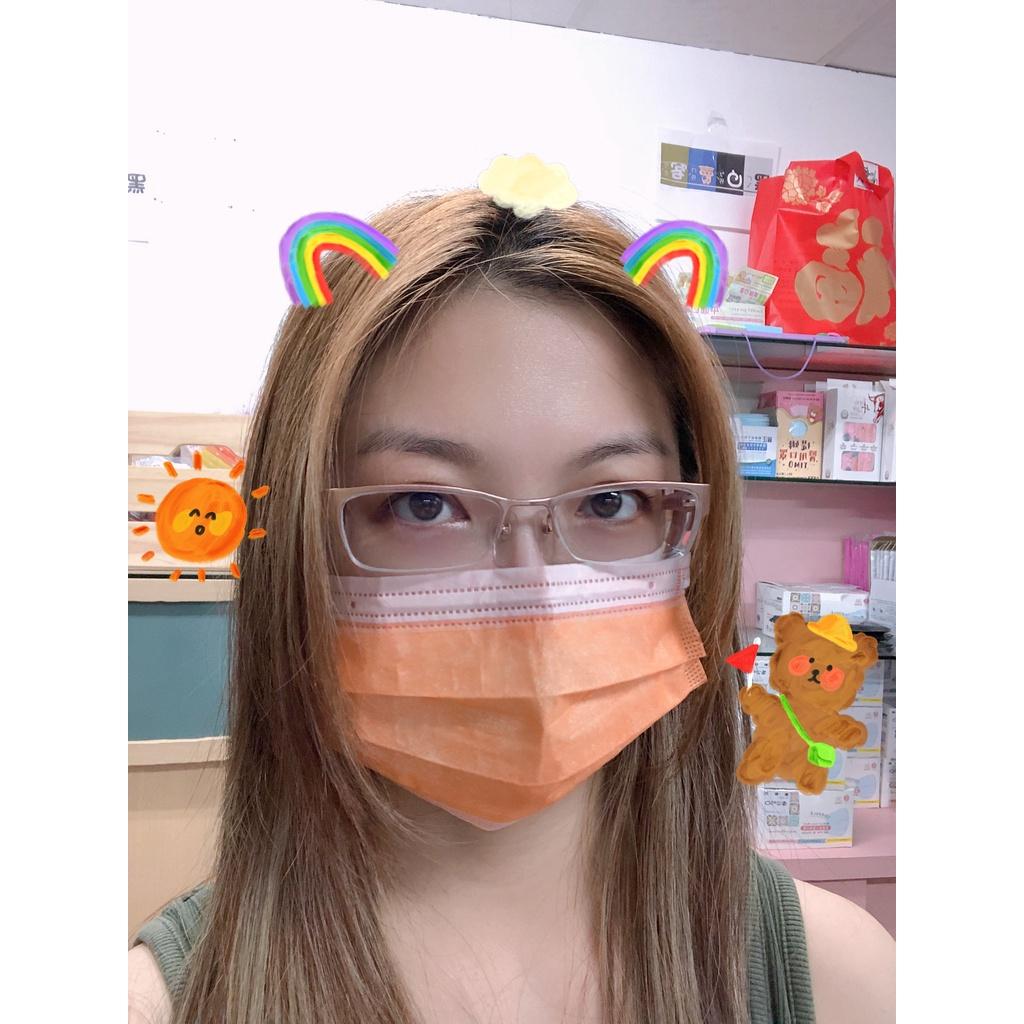 愛馬仕橘【荷康🍀現貨不用等】 丰荷 🇹🇼台灣製造 醫療級成人平面 MD雙鋼印口罩 一盒50入