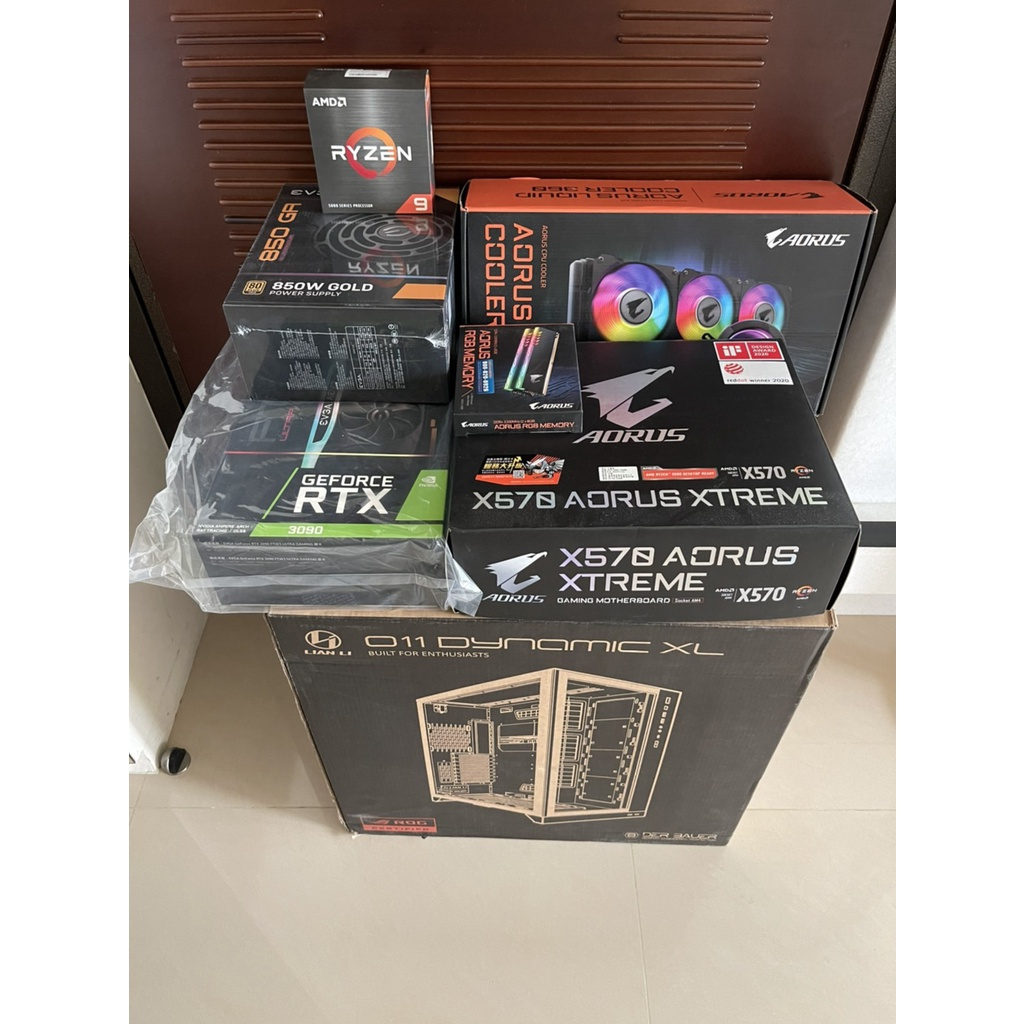 EVGA RTX3090 FTW3 ULTRA AMD 5950X AORUS X570 XTREME 整套 電競主機