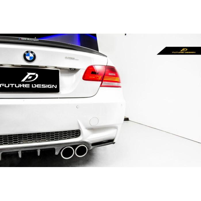 【Future_Design】BMW E92 E93 改 M3後保專用 HAMANN款 抽真空 卡夢 後下巴 免費安裝