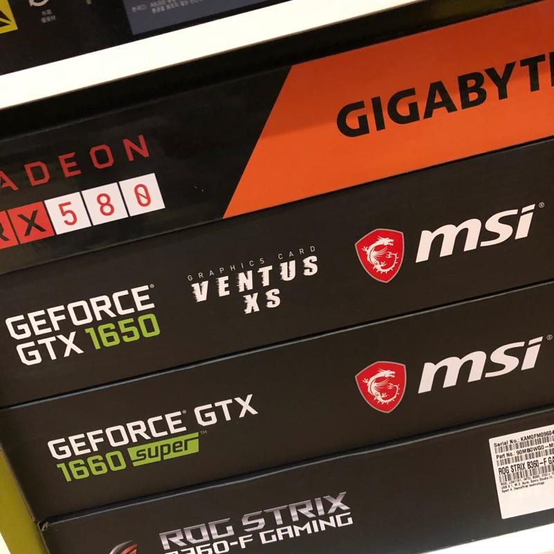 GTX1660S/GTX1650/RX580
