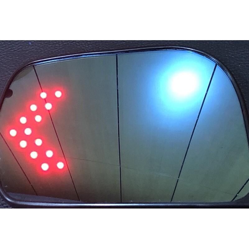 車酷中心 ESCAPE  TRIBUTE LED藍鏡 後視鏡片1600