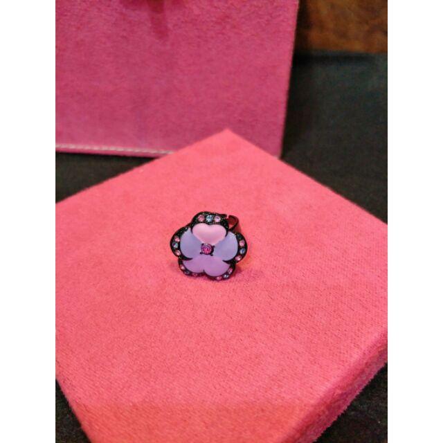 Anna sui紫色薔薇戒指
