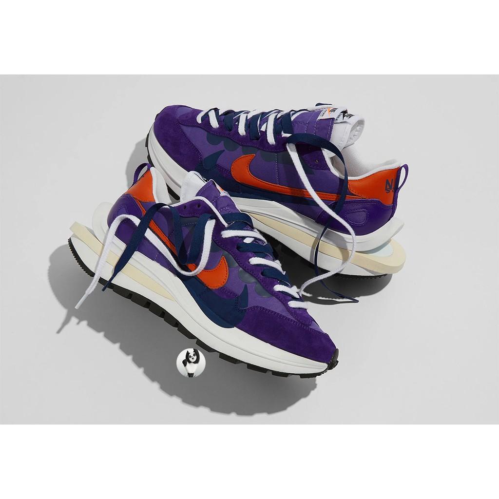 正品 Sacai x Nike Vaporwaffle 紫橘 紫金 雙勾 解構 聯名 男女款 DD1875-500