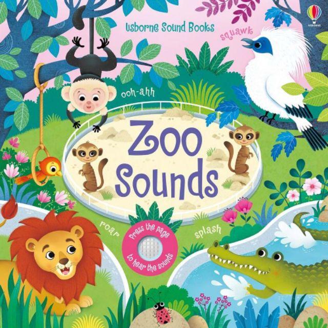 【英國Usborne】 觸控音效書 Zoo sounds 硬頁 音效書