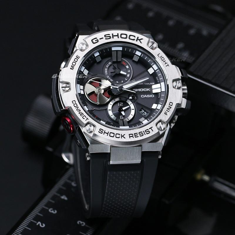 卡西歐G-STEEL GST-B100-1A  B100D-1 藍牙光動能手錶男 GST-B200
