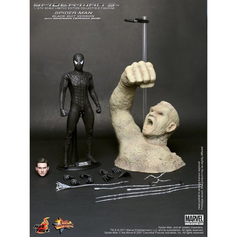 野獸國 Hot Toys – MMS165 –《 蜘蛛人 》 1/6比例 陶比 麥奎爾 黑蜘蛛 猛毒 非 MMS143