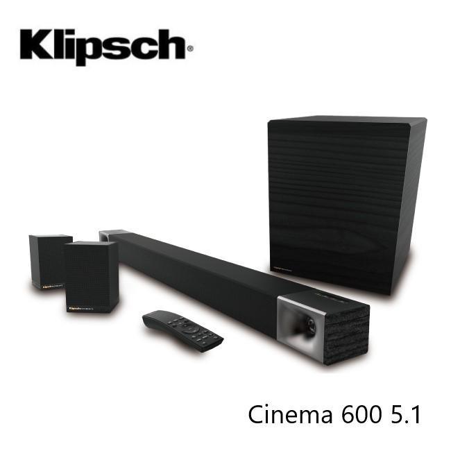 Klipsch 古力奇 Cinema 600 SoundBar + Surround 3 5.1聲道劇院組 (贈吸塵器)