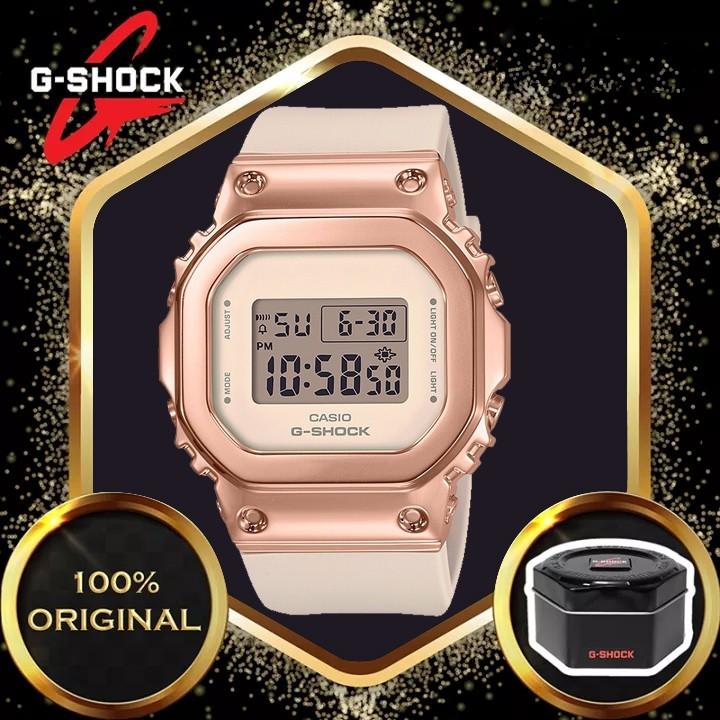 原裝 G-Shock Gm-5600 女士數字運動石英手錶 Gm-S5600Pg-4