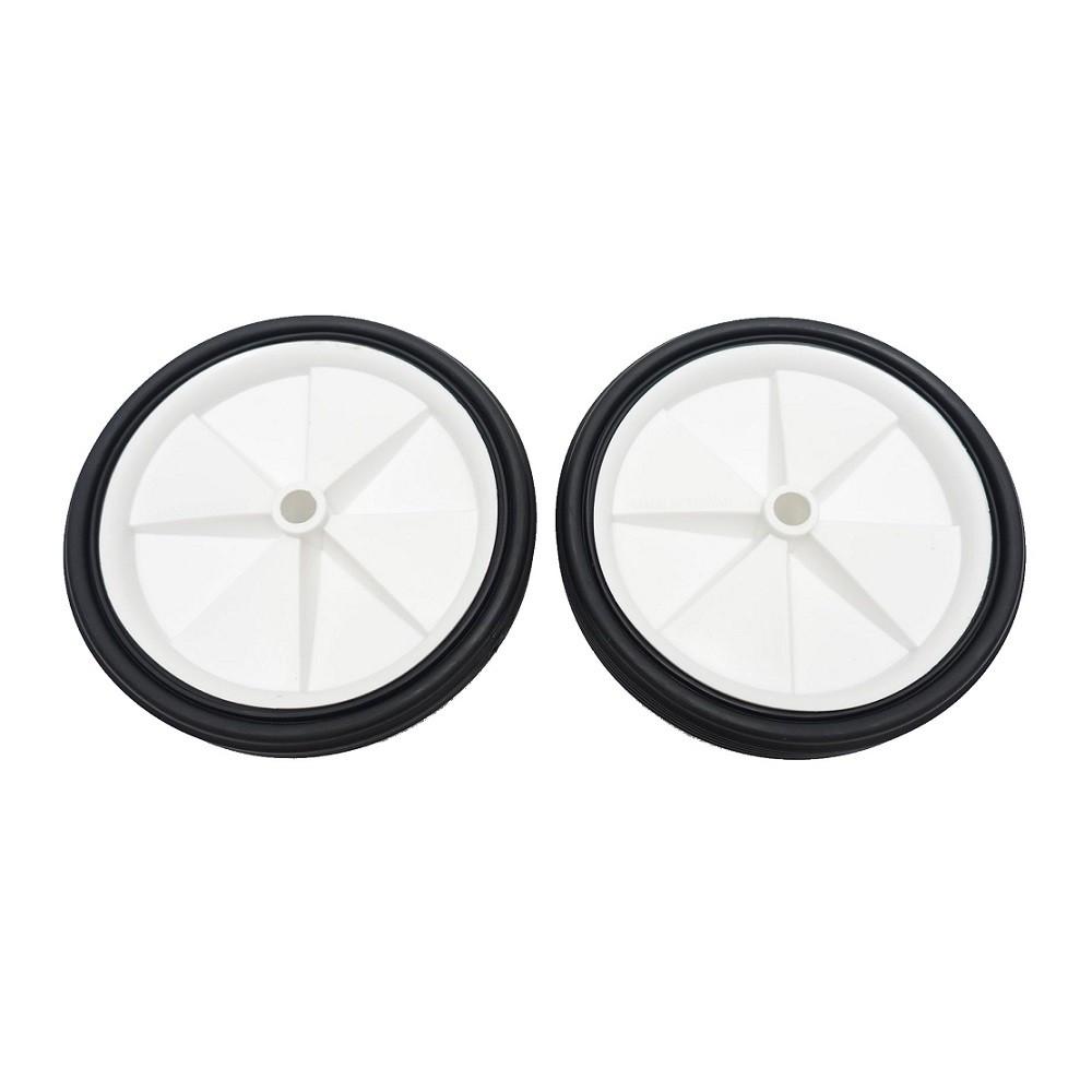 自行車輔助輪零件(白色塑膠輪_一組2入) 童車腳踏車12吋 16吋 20吋 24吋 26吋都可用