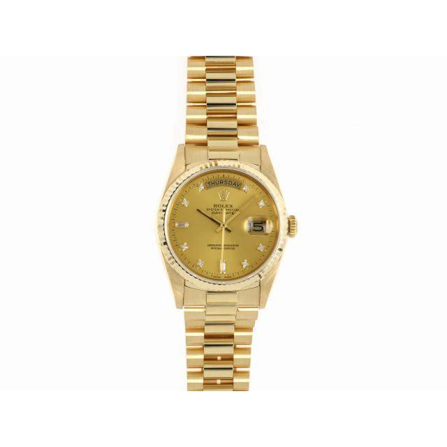 ROLEX 勞力士錶 18238 紅蟳 鑽石時標 原廠 錶況極優 H31635