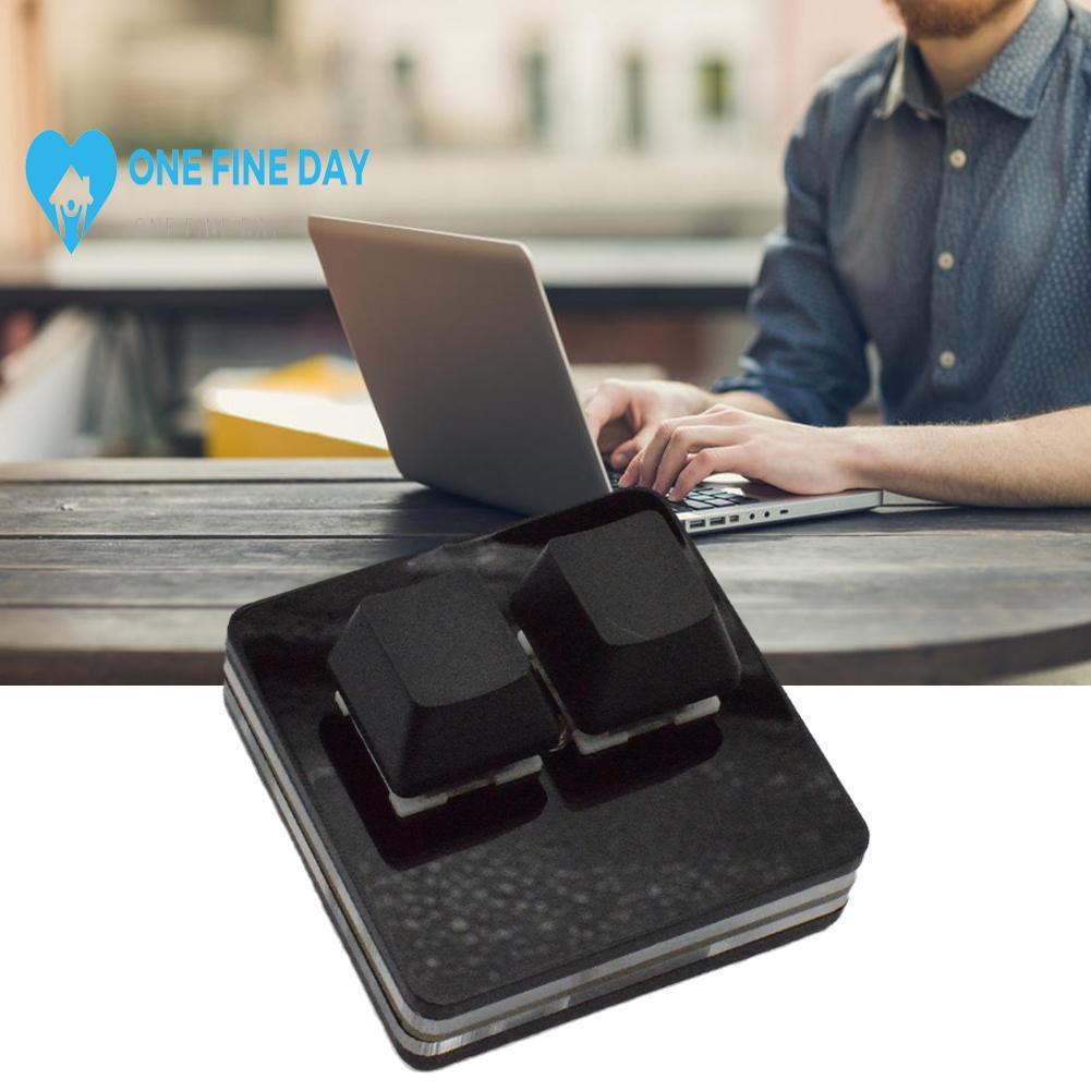 黑色 2 鍵鍵盤迷你鍵盤複製和粘貼 OSU 定制宏編程機械 USB D3D1