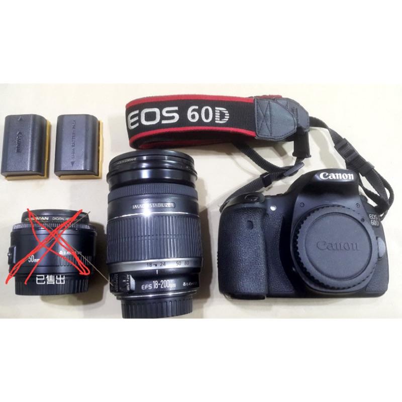 CANON 60D機身+18-200旅遊鏡 相機 單眼相機 二手 非數位相機 相片