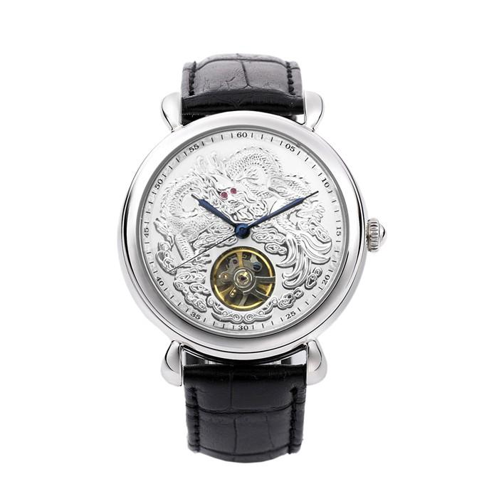🐻被被熊🐻Manlike 曼莉萊克 龍行天下 經典紅寶 機械表 機械錶 腕錶 不銹鋼 真皮錶帶 手錶 銀