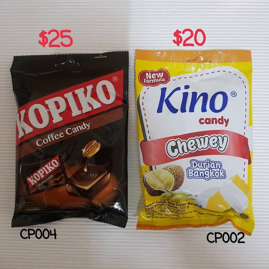 PERMEN KINO KOPIKO COFFEE CANDY 榴槤 咖啡糖果