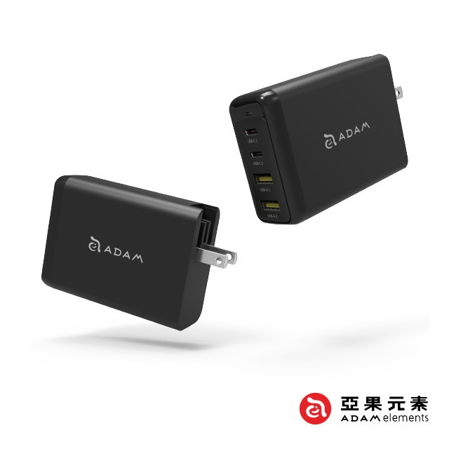 【亞果元素】OMNIA Pro 氮化鎵 GaN USB-C PD / QC3.0 100W 旅行萬用超級充電器【數位王】