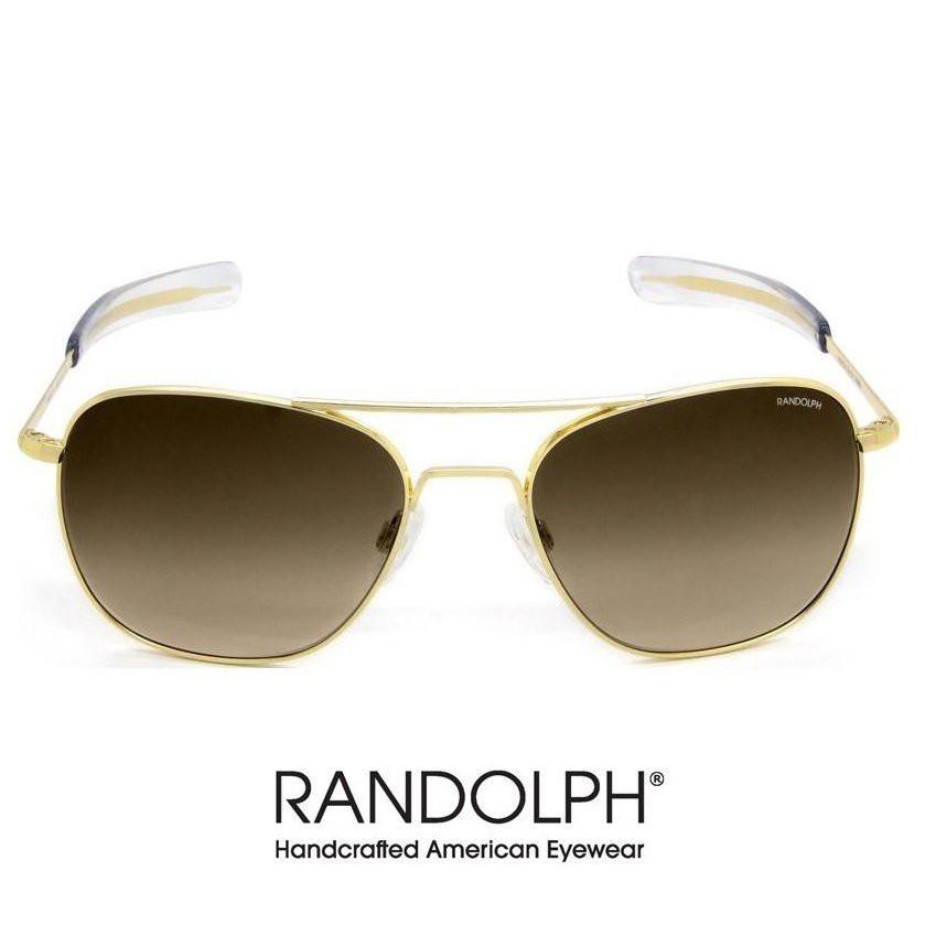 RANDOLPH 太陽眼鏡 AVATOR AF81604 (23K金) 漸層茶 美軍專用 墨鏡【原作眼鏡】