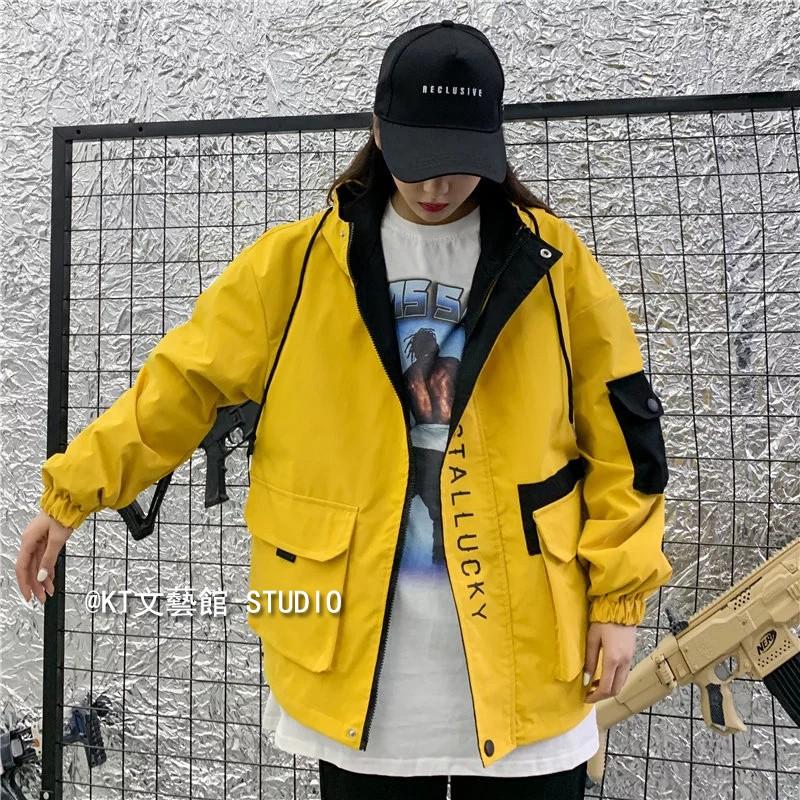 工裝夾克 S-2XL 中性風外套 工作外套 潮牌立領夾克衫 棒球連帽夾克 運動休閑夾克 寬鬆外套 現貨