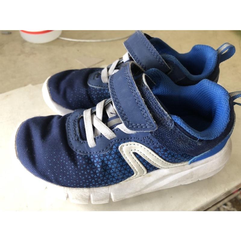 Decathlon 迪卡儂18公分二手藍色童鞋運動鞋慢跑鞋