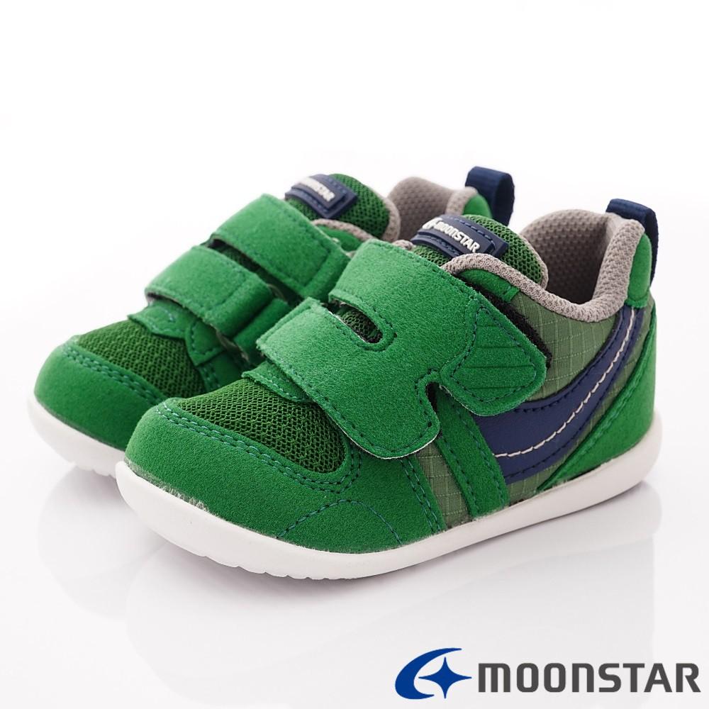 日本月星Moonstar機能童鞋 HI系列 穩定學步款 77S65綠(寶寶段-小童段)