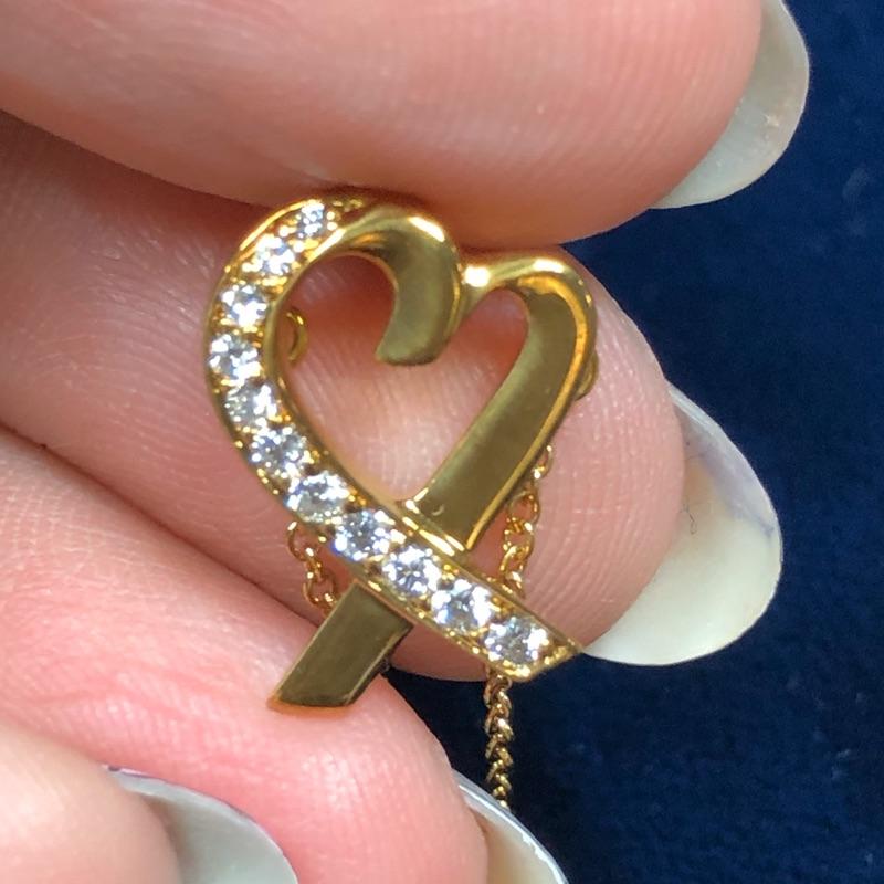 TIFFANY Tiffany & Co愛心18K金鑽石項鍊Loving Heart pendant